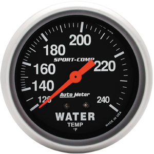 "Autometer Sport Comp Mechanical Water Temperature Gauge 2 5/8"" (66.7mm)"