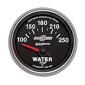 "Autometer Sport Comp II Short Sweep Electric Water Temperature Gauges 2 1/16"" (52.4mm)"