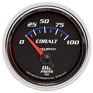 "Autometer Cobalt Short Sweep Electric Oil Pressure gauge 2 1/16"" (52.4mm)"