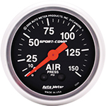 "Autometer Sport Comp Mechanical Air Pressure Gauge 2 1/16"" (52.4mm)"
