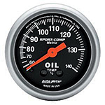 "Autometer Sport Comp Mechanical Oil Temperature Metric Gauge 2 1/16"" (52.4mm)"