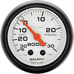 "Autometer Phantom Mechanical Boost / Vacuum gauge 2 1/16"" (52.4mm)"