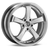 "Enkei Performance Falcon 18"" Hyper Silver w/Machined Lip Rims Set of 4"
